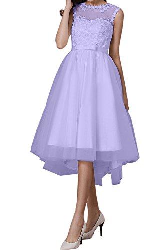 Lavender Rund Lo Damen Ivydressing Cocktailkleider Spitze Band 2017 Romantisch Abendkleider Promkleider Weiss Tuell Hi wpxI6qSZO
