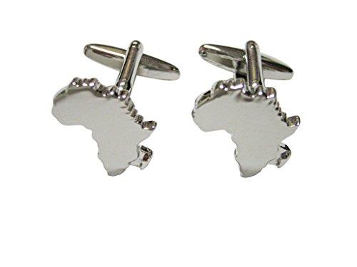 Africa Map Shape Cufflinks by Kiola Designs