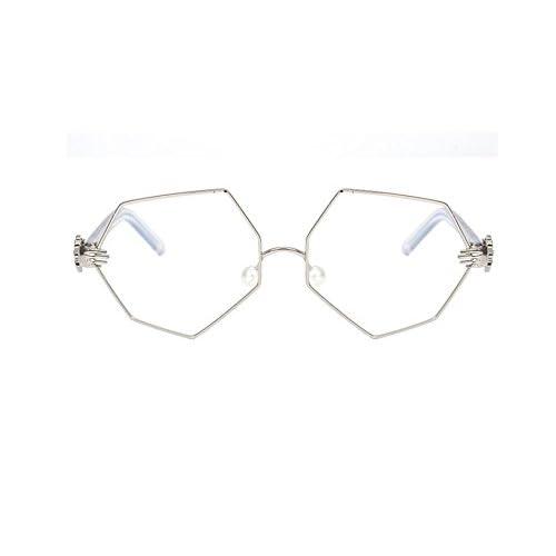 Sucastle, la mode, les polygones, les lunettes de soleil, la paume, les lunettes, spécial, perle, nez collage miroir de lumière, résine,