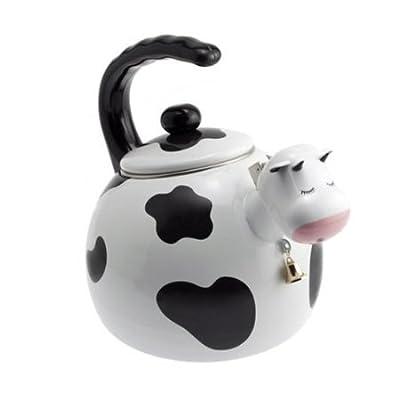 Home-X Cow Tea Kettle, 2.5 Quart Whistling Teakettle