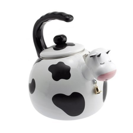 Home-X - Cow Tea Kettle, 2.5 Quart Whistling Teakettle for Gas Top or Electric Stoves, The Perfect Addition to Any Kitchen