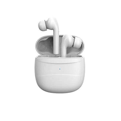 Sprint4deals Wireless Earbuds, True Wireless Earphones Bluetooth v5.0 Waterproof Headset for Running, Wireless Bluetooth Headphones with Charging Box Case (J3-White)