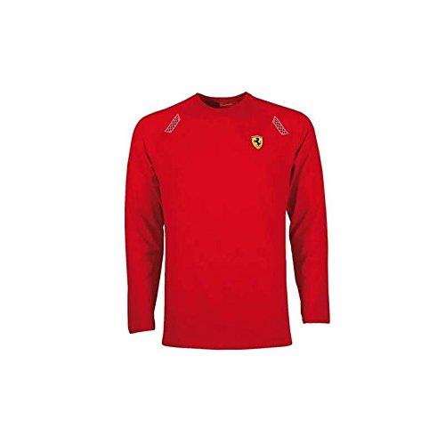 Ferrari T-Shirt Homme Rouge avec Bande