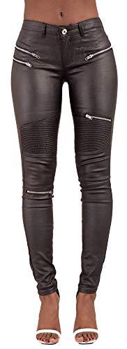 Black Side Jeans Lace Up Lustychic Donna zHCqx