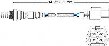 Walker Products 250-24434 4-Wire Oxygen Sensor