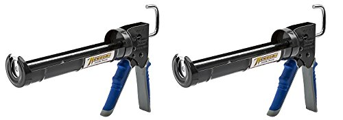 - Newborn Pro Super Ratchet Rod Caulk Gun with Gator Trigger Comfort Grip, 1/10 Gallon Cartridge, 6:1 Thrust Ratio (2-(Pack))