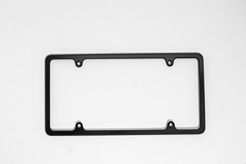 CHECK OUT OUR QUALITY!! License Plate Frame Billet Aluminum - MADE IN USA - Black (Billet License Plate)