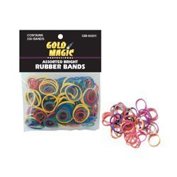 Pack of 250 Small Assorted Elastic Rubber Bands for Styling,