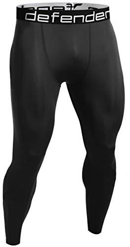 (Defender Mens Compression Baselayer Pants Legging Shorts Tights Baseball BB_M)