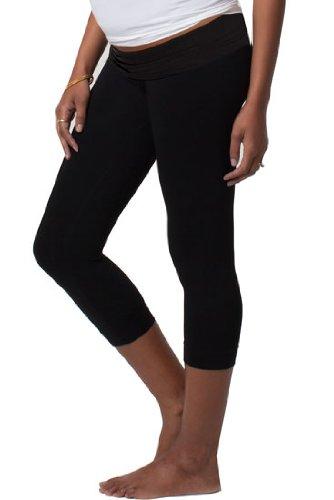 - Ingrid & Isabel Women's Maternity Capri Belly Legging, Black, 1