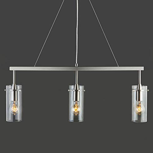 Effimero 3 Light Kitchen Island Hanging Fixture, Brushed Nickel, Linea di Liara LL-P331-BN by Linea di Liara (Image #5)