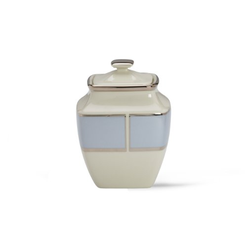 Lenox Blue Frost Platinum Banded Ivory China Square Sugar Bowl