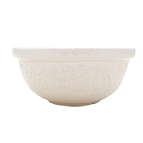Mason Cash in The Forest Mixing Bowl, Durable Stoneware, Intricate Embossed Fox Design, 4-1/4-Quarts, 11-1/2 Diameter, Dishwasher and Microwave Safe, (Bowl In Cream)