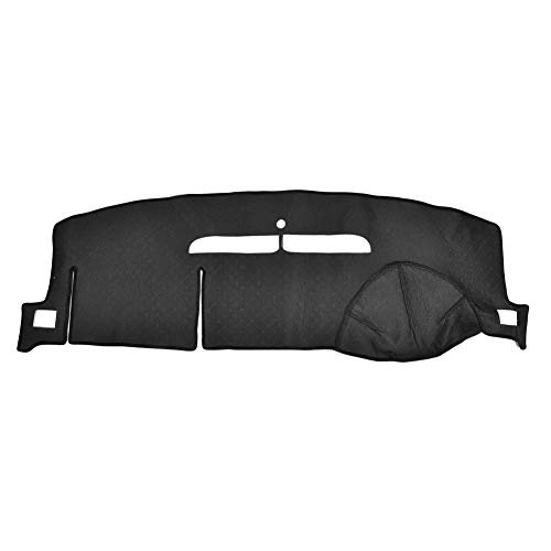 Younar Car Dash Cover Mat Black Dashboard Pad Carpet Non-Slip Sunshield Cover Protector for 07-12 Chevrolet Tahoe Suburban 07-13 Silverado