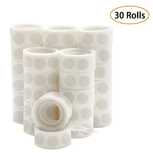 (UPINS 3000 Pcs Point Dots Balloon Glue Adhesive Point Tape, 30 Rolls Double Sided Dots Stickers for Craft Wedding Decoration)