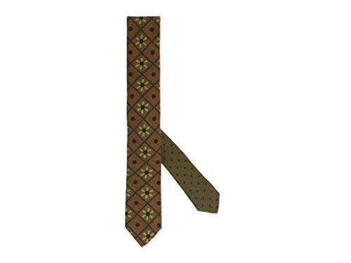 Imprimée Hélices Et Laine Avec Cravate Soie En Olive Vert TfzxYw4n
