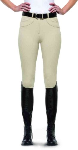 Ariat Olympia Ladies Knee Patch Riding Breeches Beige cwRI9O0s
