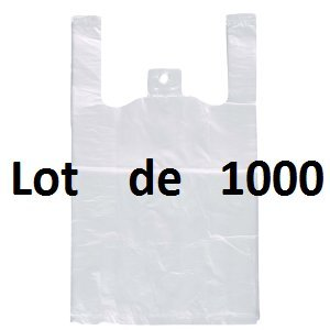 c26eff4d2 LOT DE 1000 SAC SACS BRETELLE PLASTIQUE CARTON DE 1000 SACS 300+70+ ...