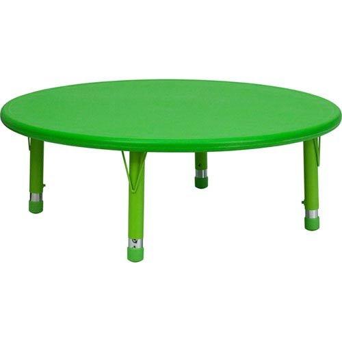 45 Inch Round Adjustable Green - Parkside 45 In. Round Height Adjustable Green Plastic Activity Table