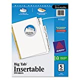(3 Pack Value Bundle) AVE11122 WorkSaver Big Tab Dividers, Clear Tabs, 5-Tab, Letter, White