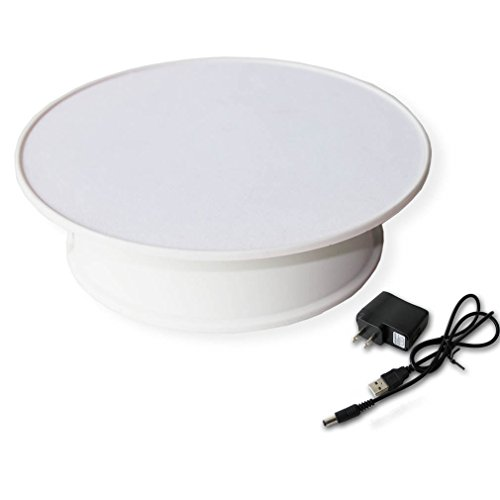 Stylish white velvet top electric motorized rotary for Motorized turntable heavy duty