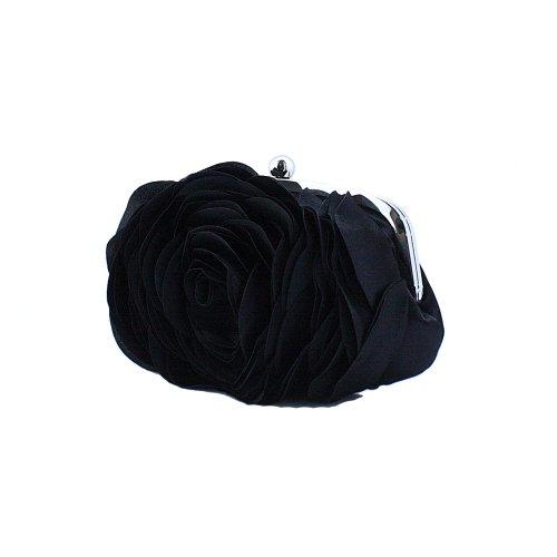 Fawziya Rose Blossom Metal Frame Women Mini Handbag Hand Holder - Designer Outlet Uk Fake