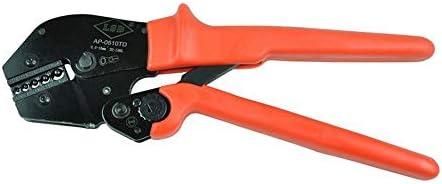 ケーブルカッター 非絶縁ケーブル用 ラチェット 圧着工具 0.5〜10mm² 両手操作クリンパ 手動ケーブルカッター