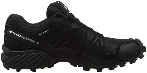 (11 UK, Black (Black/Black/Black Metallic)) - Salomon Men's Speedcross 4 Trail Running Shoe, Synthetic/Textile