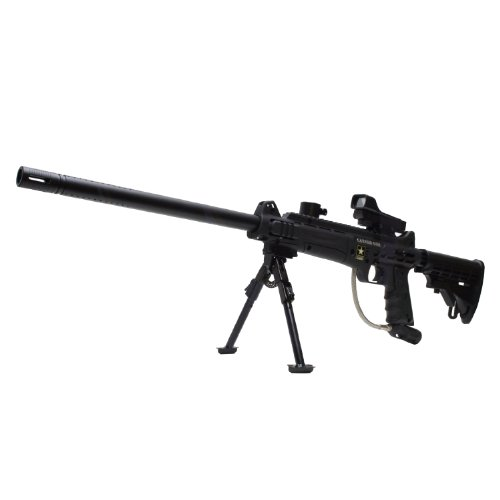 """Tippmann US Army Carver One Paintball Gun with Red Dot Reflex Sight Bipod Stock 18"""" Barrel"""