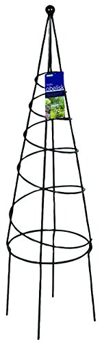 - Gardman R531 Spiral Obelisk, Black, 9.5