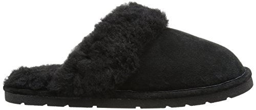 Lamo Womens Scuff Lamo Synthetic Slipper Synthetic Womens Black Slipper Black Scuff pHfwHO