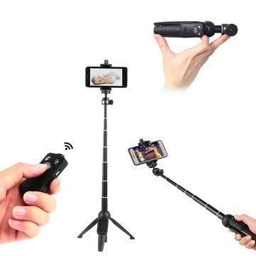 992 Wireless Bluetooth Remote Handheld Monopod Mini Tripod Phone Selfie Stick - Smart Devices & Accessories Selfie Sticks & Tripods - 1 x Waterproof Bluetooth Speaker, 1 x USB Charging Cable