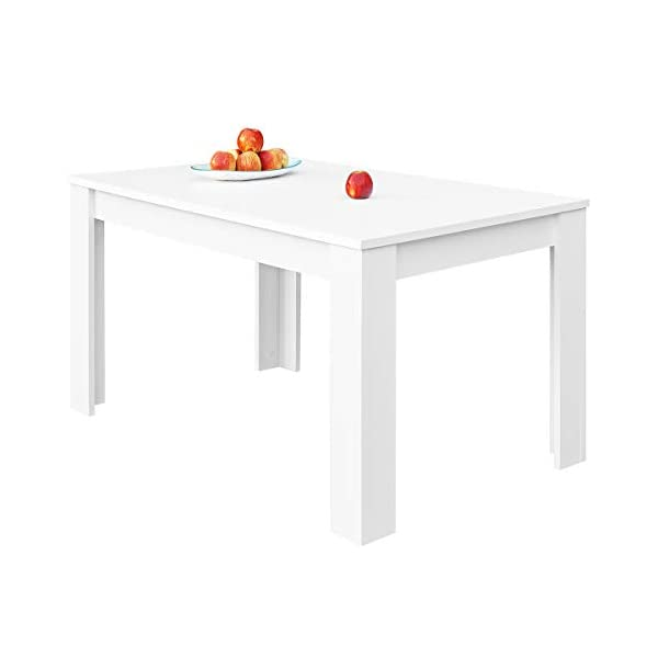 COMIFORT - Mesa De Comedor Extensible Moderna de 120 a 170 cm, Medidas 120/170x75x78 cm, Disponible en Colores: Blanca, Blanco/Roble, Roble, Wengué, Nordic (Blanco) look4deco Blog Decoracion