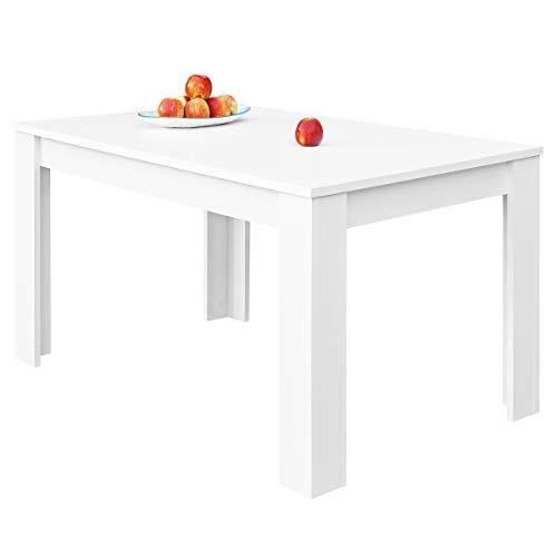 COMIFORT – Mesa De Comedor Extensible Moderna de 120 a 170 cm, Medidas 120/170x75x78 cm, Disponible en Colores: Blanca, Blanco/Roble, Roble, Wengue, Nordic (Blanco)