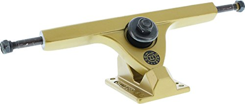 スキム暴行締め切りCaliber Forty Four 184mm Hi Satin Gold Skateboard Trucks 44 Degrees - 10 Axle (Set of 2) by Caliber Trucks