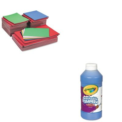 KITCYO543115042PAC104120 - Value Kit - Pacon Tru-Ray Construction Paper (PAC104120) and Crayola Artista II Washable Tempera Paint (CYO543115042)