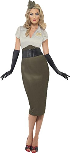 (Ww2 Army Pin Up Spice Darling Costume Green &)