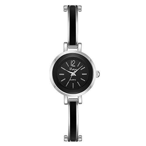 - Qingell Watch Simple Casual Fashion Round Alloy Small and Exquisite Female Bracelet Watch 2019 (D, one Size)