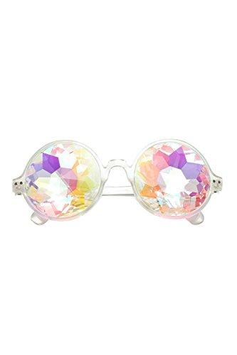 Lentes Rave Del Redonda Vidrio Party Caleidoscopio Cristales De Mujer Sheer La Real qpATw7x