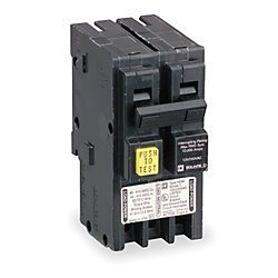 Square D Ground Fault Circuit Breaker, HOM250GFI