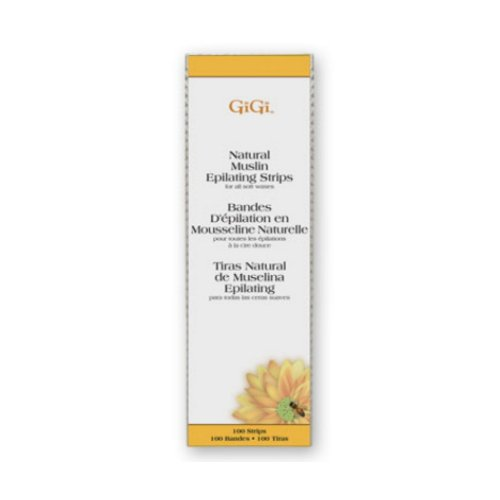 (3 Pack) GIGI Natural Muslin Epilating Strips (Large) - - Muslin Epilating