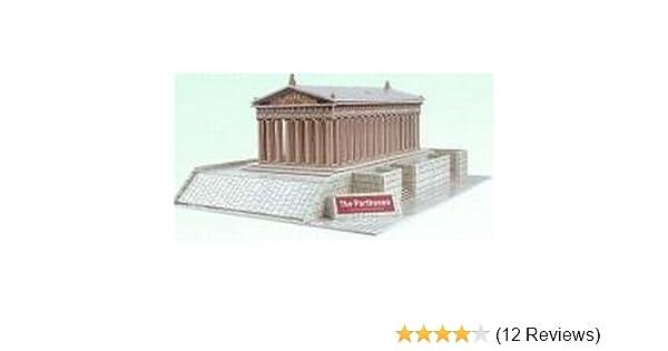 Amazon com: The Parthenon In Greece 3 D Puzzle Model Kit