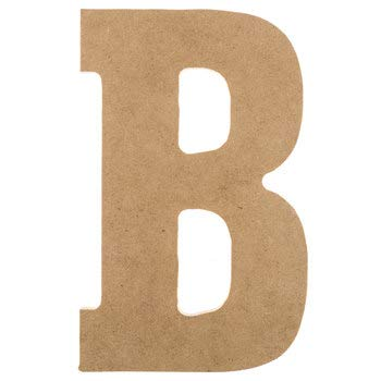 Block Font Cutout Unfinished Wood Letters Alphabet Everyday School Door Hanger MDF Shape Canvas Style 1 (18