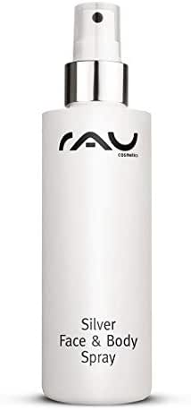 RAU Silver Face & Body Spray 6.76 Fl. oz - Body Spray against Impurities, Pimples, Razor Bumps, Irritations and Redness