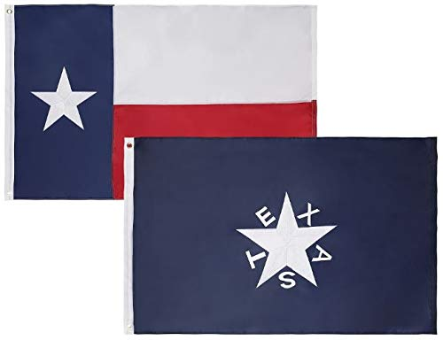Cascade Point 2 Pack - 3x5 Feet Nylon 1836 Lorenzo de Zavala Texas & State of Texas Flag Combo Pack – Embroidered Oxford 210D Heavy Duty Nylon, Durable and Long Lasting - 4 Stitch Hemming