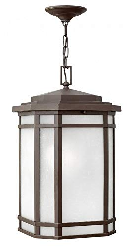 - Hinkley 1272OZ-WH Cherry Creek Outdoor Pendant, 1-Light 100 Watts, Oil Rubbed Bronze