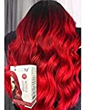 Dexe Bright Color Bright Red 180 ml, Revolutionary Hair color cream,Permanent hair color, Hair dye, Highlights