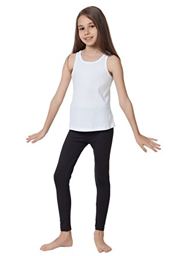 CAOMP Girl's Ankle Length Leggings, Certified Organic Cotton Spandex, School or Play