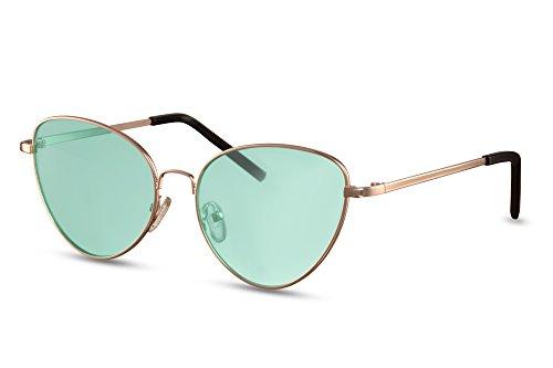 UV400 yeux Monture Style soleil Or3 Cheapass Rondes de métal chat Femmes de faite Lunettes de wRwzqT4