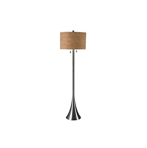 Design Craft Bachman 58-Inch Brushed Steel Contemporary Floor Lamp by Design Craft